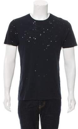 Barneys New York Barney's New York Distressed Crew Neck T-Shirt