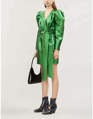 Selfridges Happy X Nature Twilight metallic recycled polyester mini dress
