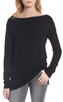 Women's Trouve Bateau Neck Sweater $69 thestylecure.com