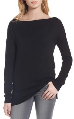 Women's Trouve Bateau Neck Sweater $69 thestylecure.com