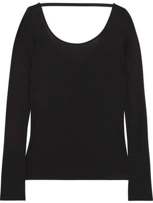 Helmut Lang Modal And Pima Cotton-blend Top - Black