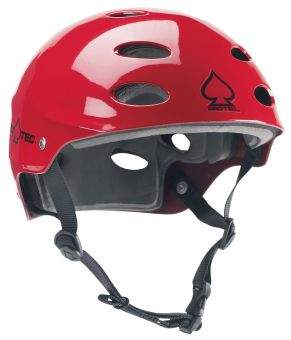 PROTEC ACE WATER Helm gloss red
