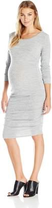 Ripe Maternity Women's Maternity Textured Knit Cocoon Dress