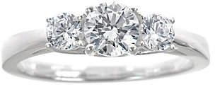 Abercrombie & Fitch Affinity Diamond Jewelry 3-Stone Diamond Ring, 14K Gold, 1.00cttw,