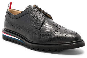 Thom Browne Pebble Grain Classic Longwing Brogue with Threaded Rubber Sole
