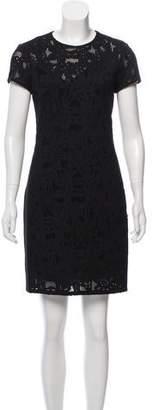 Rebecca Taylor Silk Blend Short Sleeve Dress