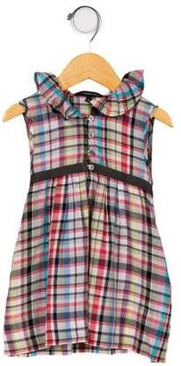 Little Marc Jacobs Girls' Plaid Ruffle-Trimmed Dress