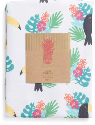 Tropical Toucan Print Indoor Outdoor Tablecloth