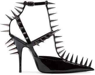 Balenciaga Black Knife 110 Spike Patent Leather Pumps