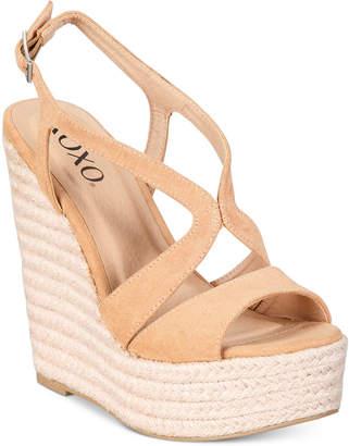 XOXO Sabeen Espadrille Wedge Platform Sandals Women's Shoes