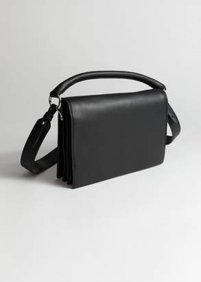 And other stories Leather Fold Over Crossbody Bag