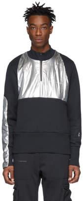 Oakley By Samuel Ross by Samuel Ross Grey and Silver Fleece High Neck Sweatshirt