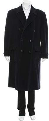 Hermes Double-Breasted Cashmere-Blend Coat