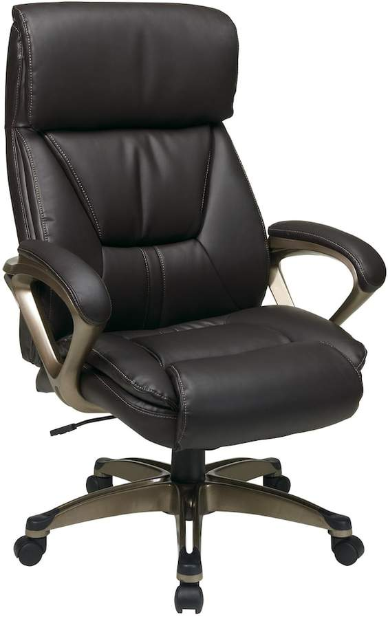 Office Star Products Classic Executive Eco-Leather Chair