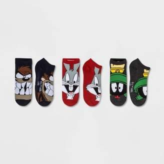Looney Tunes Women's Bugs Bunny 3pk Low Cut Socks - Red/Gray/Blue One Size