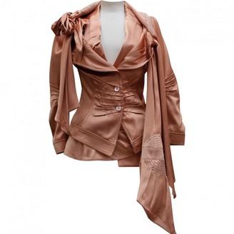 John Galliano Pink Silk Jackets