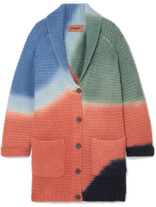 Missoni Color-block Ribbed Alpaca-blend Cardigan - Orange