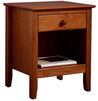 Adeptus Easy Pieces Solid Pine Single Drawer End Table - Pecan