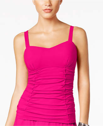Gottex Profile by Origami D-Cup Bra-Sized Underwire Ruched Tankini Top Women's Swimsuit