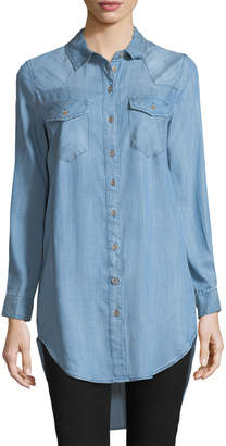 Velvet Heart Gina Western Button-Front Long-Sleeve Tunic