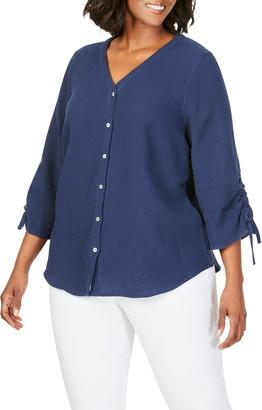 Foxcroft Marley Gauze Shirt
