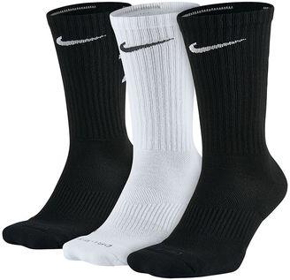 Men's Nike 3-pack Dri-FIT Rise Crew Socks $22 thestylecure.com
