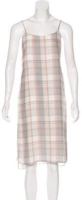 Jenni Kayne Silk Plaid Dress
