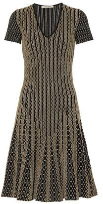 Roberto Cavalli Metallic jacquard midi dress
