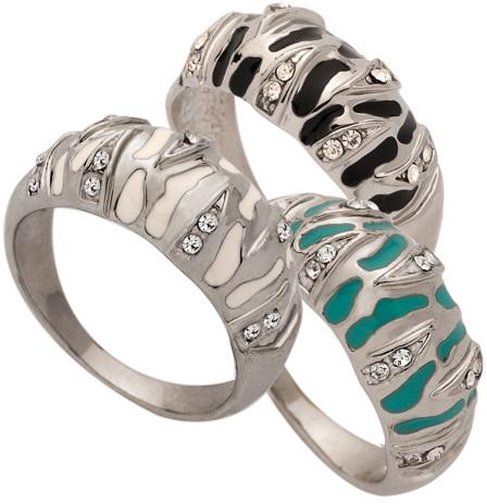 Blu Bijoux Crystal  Zebra  Rings