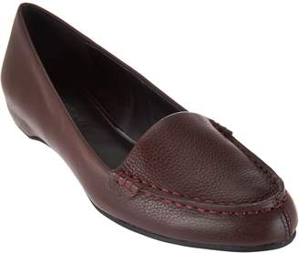 Halston H By H by Leather Slip-On Shoes with Hidden Wedge - Kellie