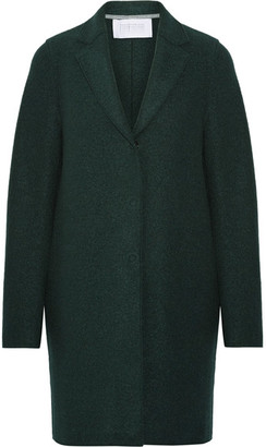 Harris Wharf London - Cocoon Wool-felt Coat - Emerald