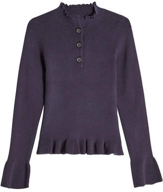 See by Chloe Cotton Pullover with Cashmere