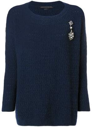 Ermanno Scervino embellished knit jumper