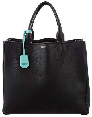 Tiffany & Co. Leather Top Handle Tote