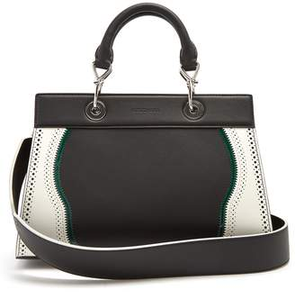 Altuzarra Shadow contrast-trimmed small leather bag