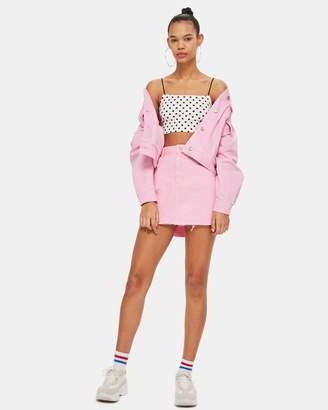Topshop Denim High-Waisted Skirt
