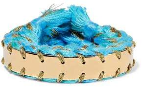 Aurelie Bidermann Copacabana Gold-Tone Braided Cotton Cuff