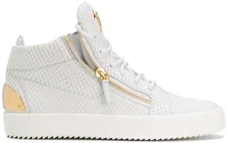 Giuseppe Zanotti Design Kriss python-embossed sneakers