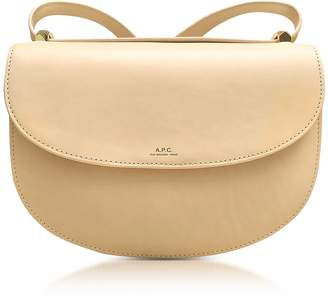 A.P.C. Beige Natural Geneve Leather Crossbody Bag
