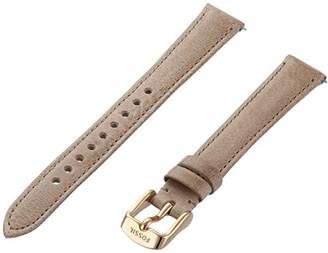 Fossil S141075 14mm Leather Calfskin Beige Watch Strap