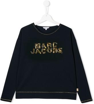 Little Marc Jacobs TEEN embellished logo top
