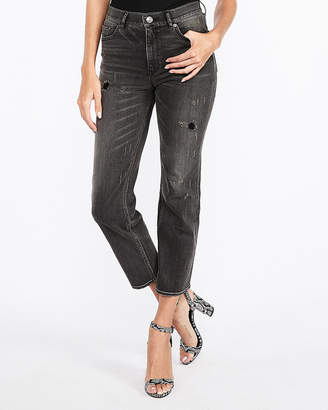 Express High Waisted Original Straight Cropped Jeans
