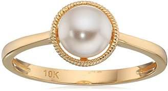 Crystal Pearl 10k Gold Swarovski Birthstone Ring