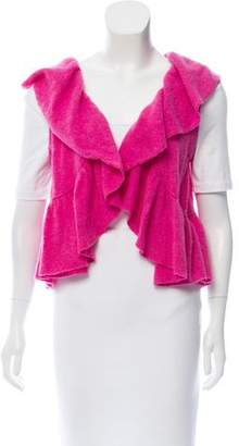 Minnie Rose Ruffled Cashmere Cardigan