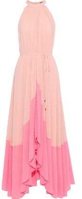 Saloni Dobby Two-tone Fil Coupe Georgette Maxi Dress