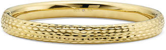 FINE JEWELRY Gold Opulence 14KGold Over Diamond Resin Diamond-Cut Bangle