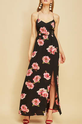 Entro Floral Backless Maxi