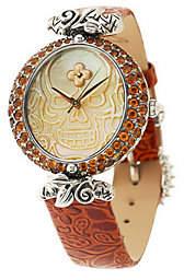 Barbara Bixby Steel/18K Mother-of-Pearl & Gemstone Skull Watch
