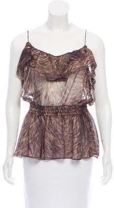 Dolce & Gabbana Sheer Silk Top w/ Tags