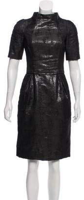 J. Mendel Metallic Knee-Length Dress